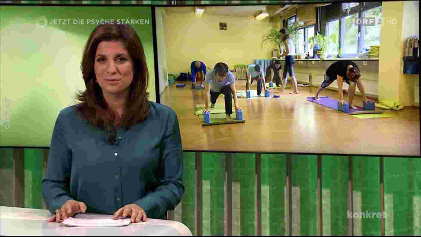 ORF-konkret berichtet von der stärkenden Kraft des Yoga